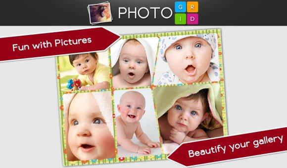 تحميل برنامج تجميع الصور في اطارات للبلاك بيري Photo Grid