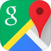 Google Maps 4.0 for iOS app icon small - تحميل عملاق عرض الخرائط جوجل ماب للويندوز فون مجانا Google Maps