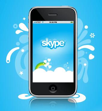 برنامج سكايب للايفون Skype for iPhone app